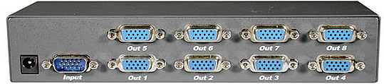 8-Port UXGA Monitor Splitter/Extender