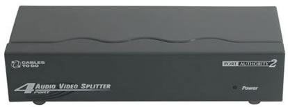 4-Port UXGA Monitor Splitter/Extender with Audio