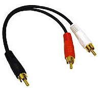 VALUE SERIES RCA Plug/RCA Plug x 2 Y-Cable