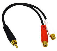 VALUE SERIES RCA Plug to RCA Jack x 2 Y-Cable